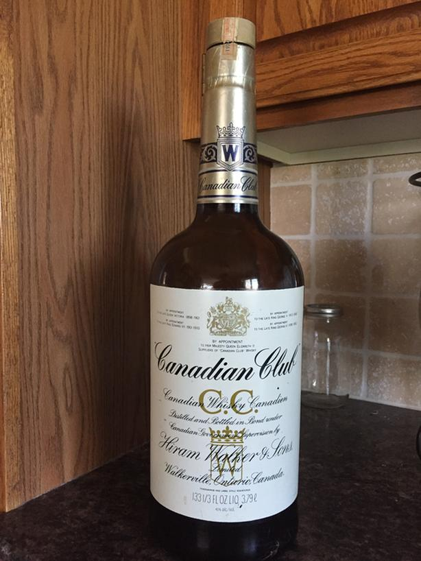 OLD 3.79 L Canadian Club Bottle