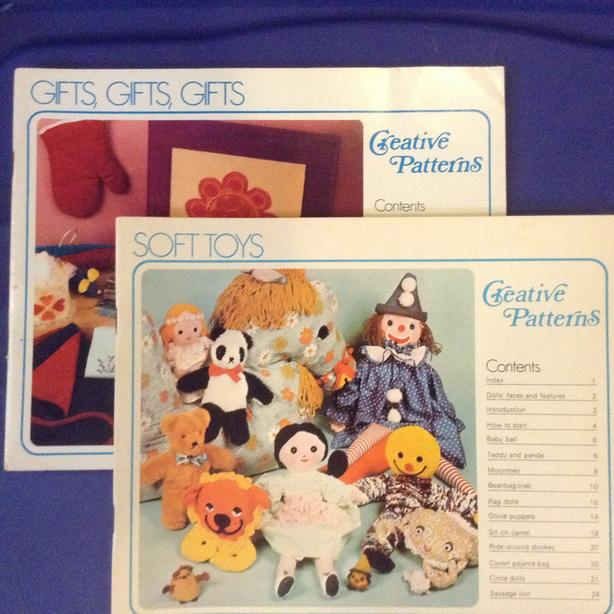 Crochet, sewing and creative pattern books