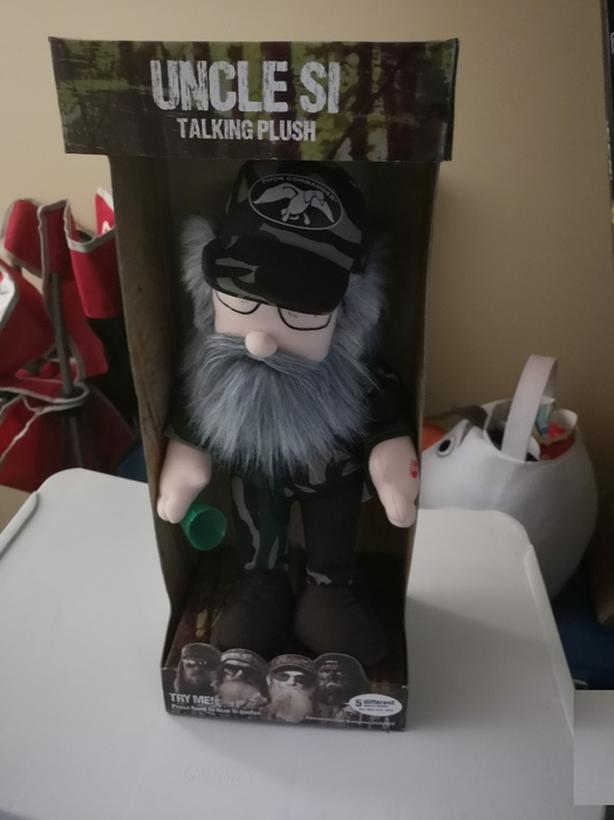 Uncle Si talking plush in box