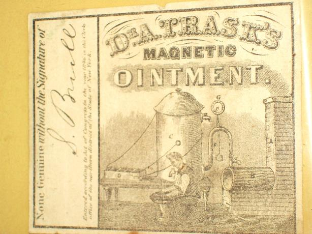 ANTIQUE 1846 ( 173 YRS. OLD ) DR. TRASK'S OINTMENT LABEL