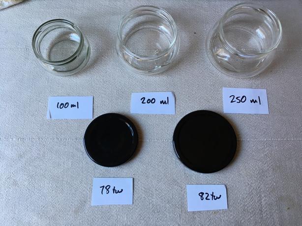 Tureen jars and lids for preserves/chutneys