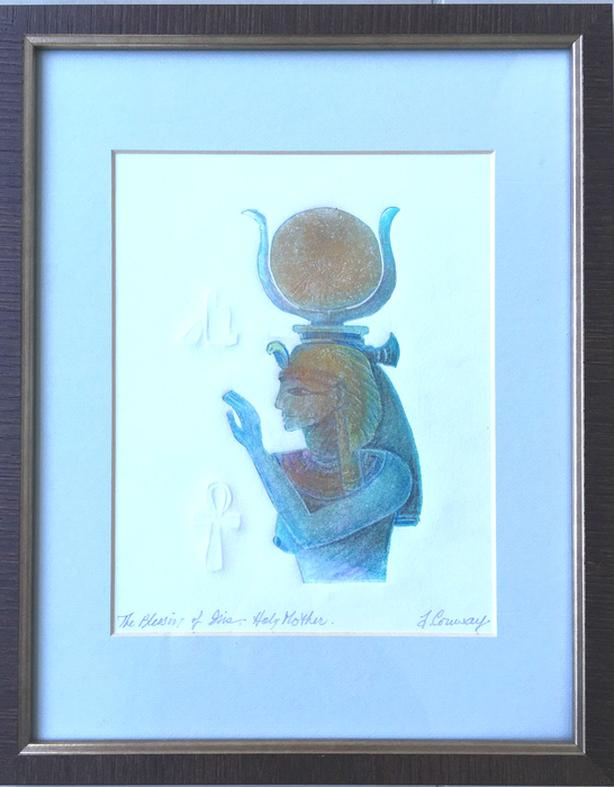 """Created by Renown Artist Ann-Rosemary Conway """"The Blessing of Gia, Holy Mother"""""""