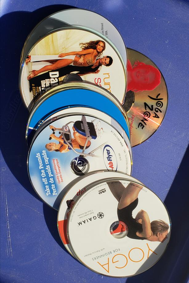 14 Yoga, dance, Pilates and exercise DVD's. No cases.