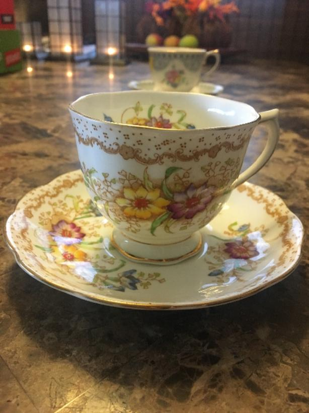 Box of Various Royal Albert teacups and coffee cups