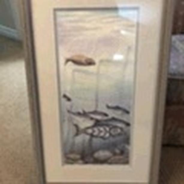 Framed signed limited edition Sue Coleman, triptych