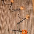 5-Piece Set of Halloween Stake Lights - Skulls & Pumpkins - Electric