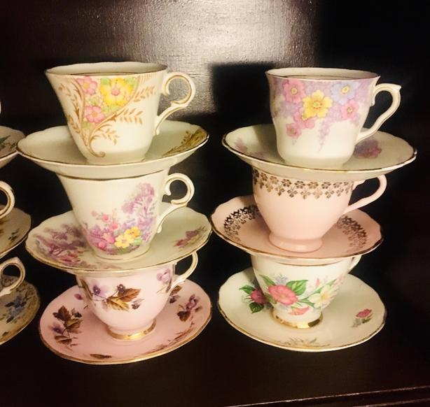Colclough Bone China Individual Teacups