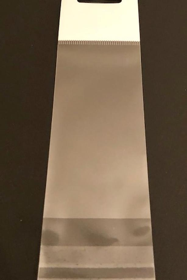 """2"""" x 6"""" clear bags for crafts, products etc - Hanging bags"""