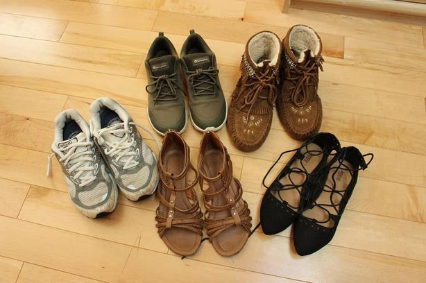 Shoe lot take all for 5 pairs $40