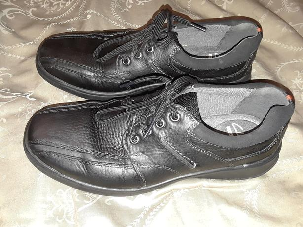 New Clarks Black Leather Shoes Men's Size 8