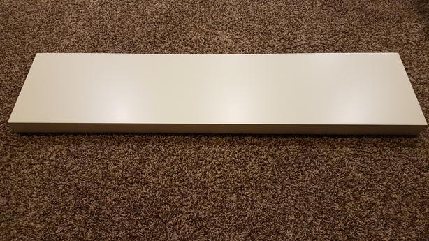 3 Ikea  Lack floating shelves