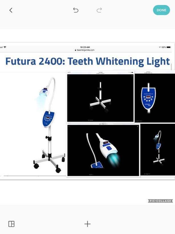 Beaming white professional advanced  futura 2400 teeth whitening machine