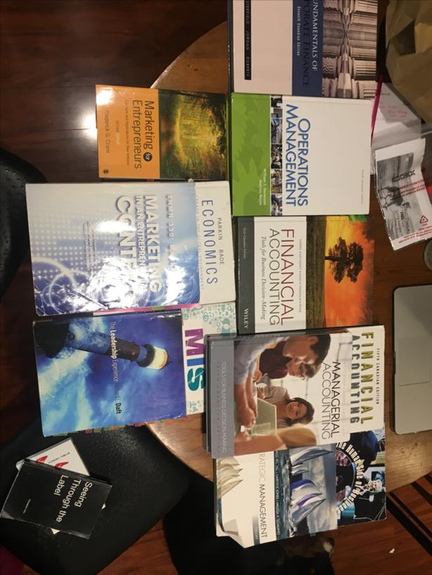 Used B.Comm text books- just give me your offer no price.