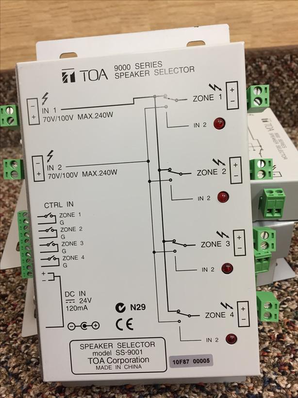 TOA SS-9001 speaker selector