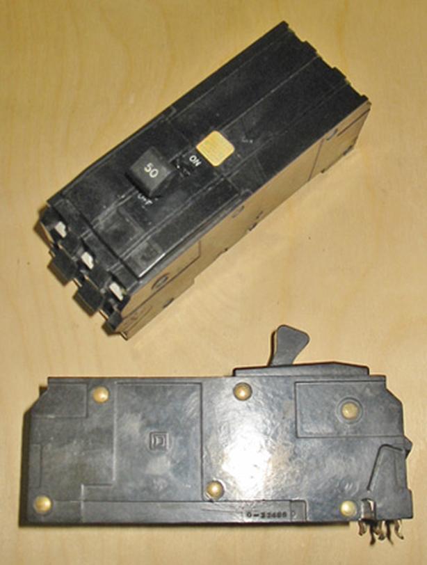 SQUARE D Type Q1B 50 Amp, 3 Pole, 240 Vac Circuit Breaker (SQD A1B350) ~ Rare!