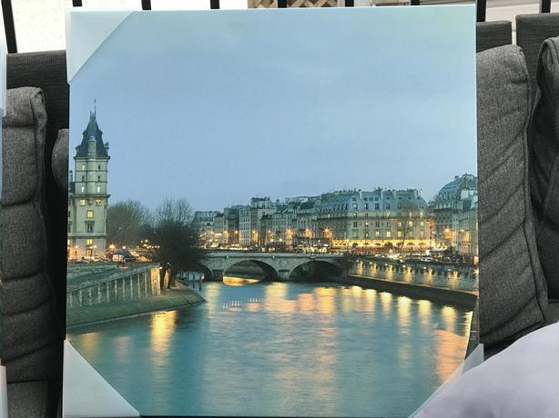 "2 Panel - Canal Scene 18"" x 18"" Canvas Print"