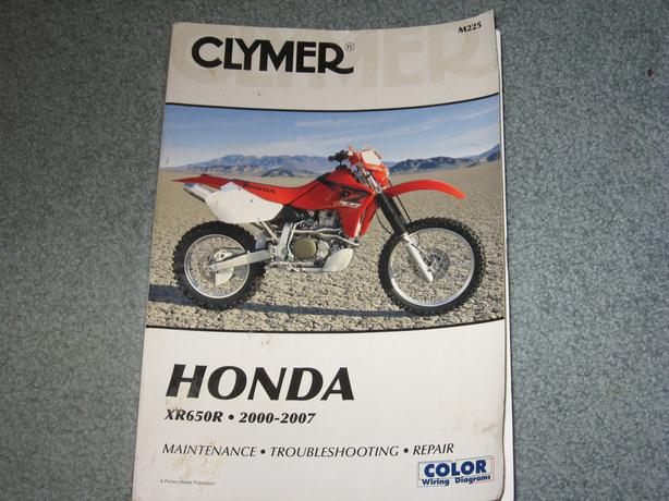 honda xr650r 2000- 2007 workshop manual clymer