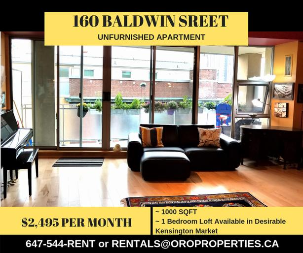 1 Bedroom Loft Available in Desirable Kensington Market!