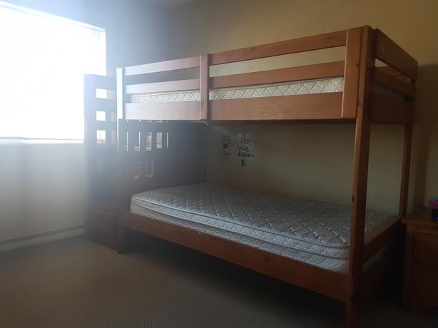 Ponderosa Staircase Bunk Bed With Mattress West Shore Langford