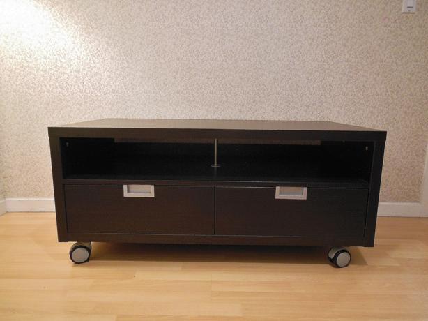 Log In Needed 100 Ikea Besta Jagra Tv Bench Stand On Castors Black Brown