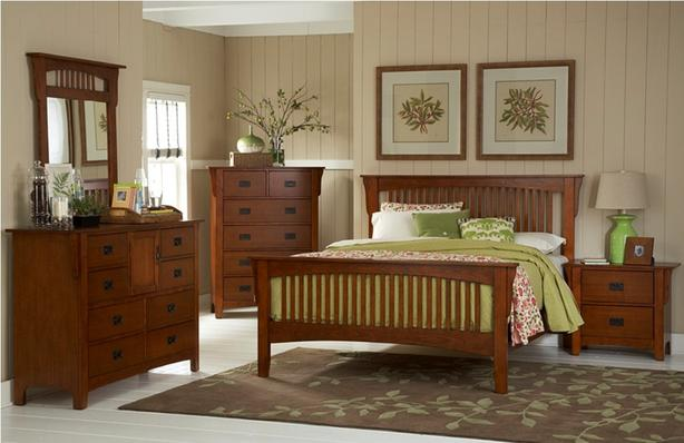4 piece King bedroom set: Solid wood mission style, The ...