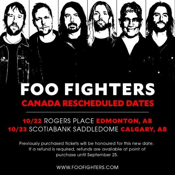 Foo Fighters Calgary -Oct 23/18! 4 Tickets