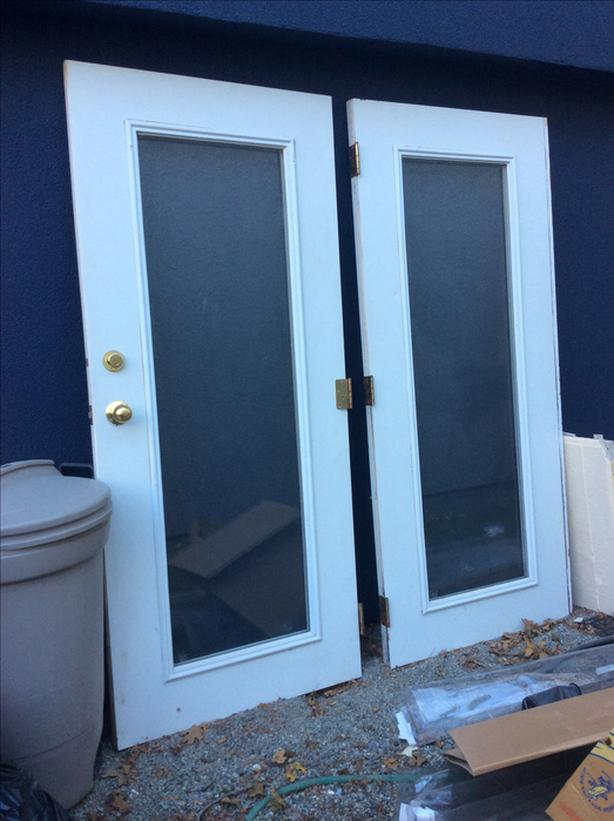 the best attitude 36732 60594 Outdoor Double pane glass French doors with door frame ...