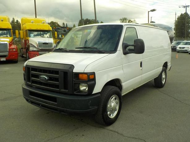 2012 Ford E-250 Cargo Van with Bulkhead Divider and Rear Shelving