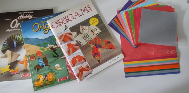 3 Origami Books and Paper