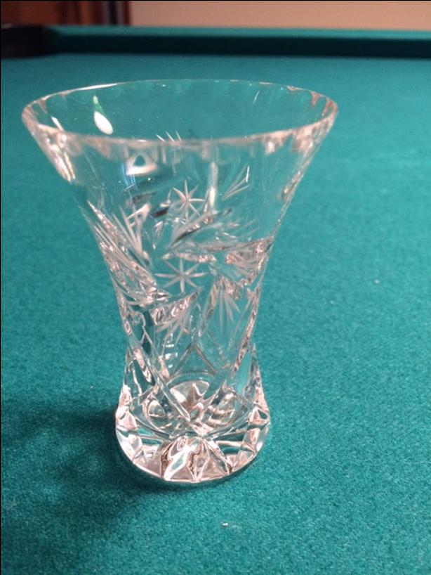 "3"" Czech crystal vase"