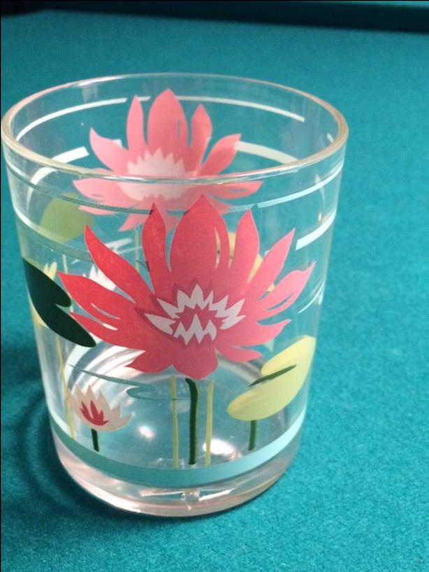 6 acrylic patio glasses
