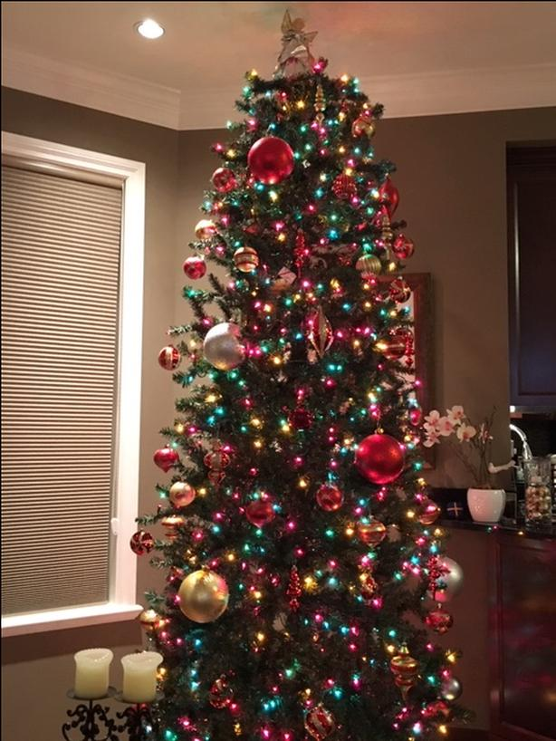12 Foot Christmas Tree with 1200 Lights & Decorations