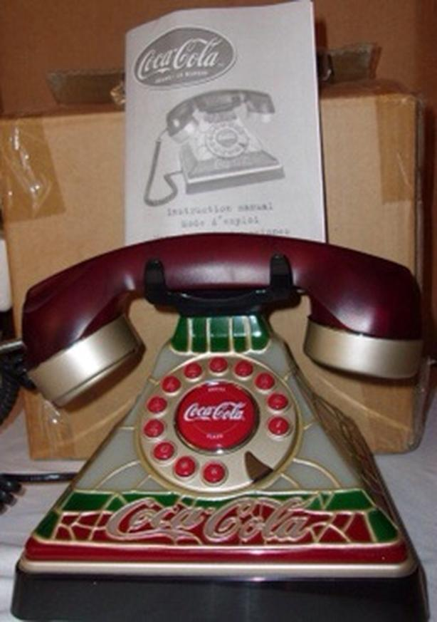 Coca Cola Tiffany Style Push Button Telephone