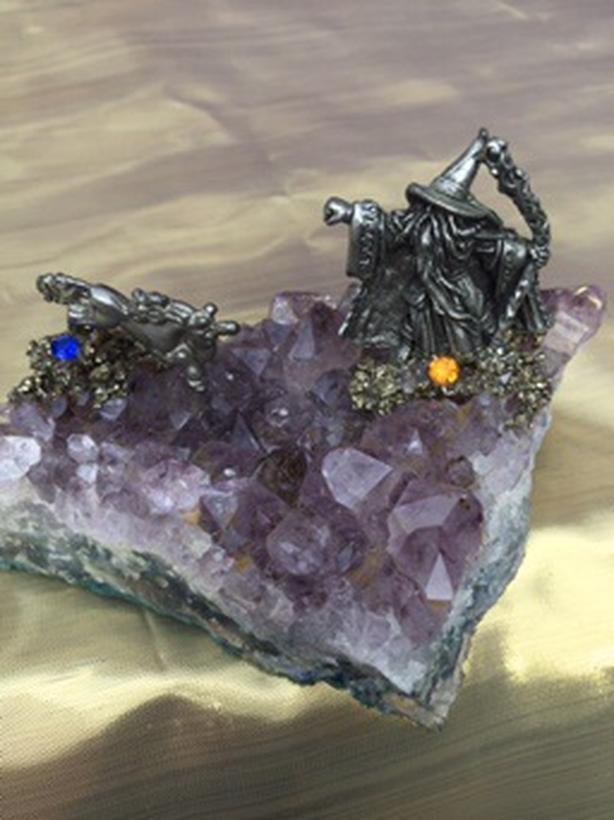 Amethyst Geode Crystal Quartz Cluster