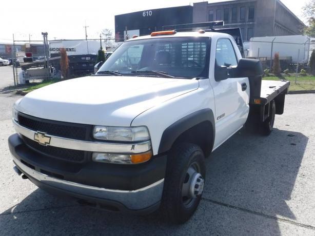 2002 Chevrolet Silverado 3500 12 Foot Tilting Flat Deck Regular Cab 2WD