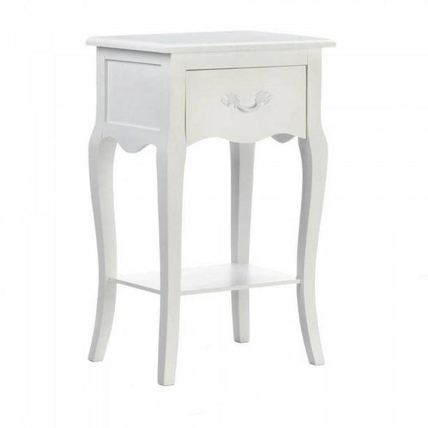 Cottage Chic White Wood Accent Side End Table Nightstand Brand New