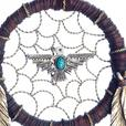 Faux Leather Dreamcatcher Hanging Wall Decor Feathers Arrow Antlers 2DZ