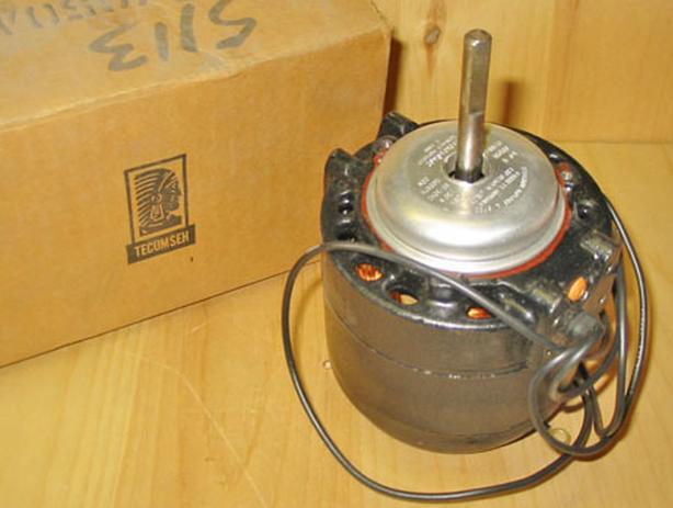 TECUMSEH 50 Watt, 230 Volt Refrigeration Motor (1500 RPM, 1 SPD, CCWLE) ~ New!