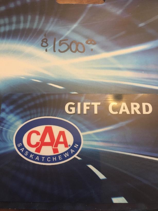 Gift Card for $1,500 for CAA