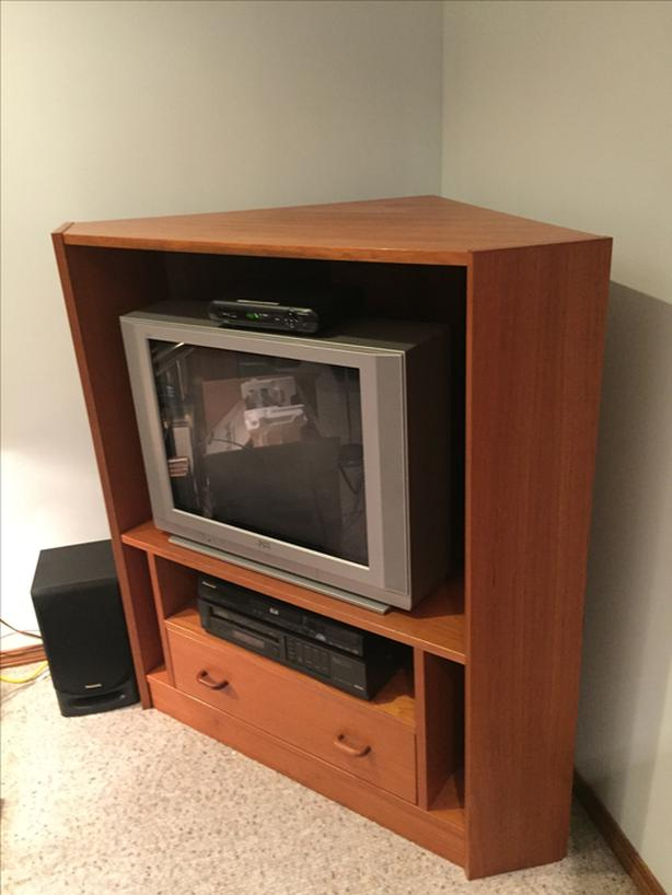 Solid real wood corner TV stand