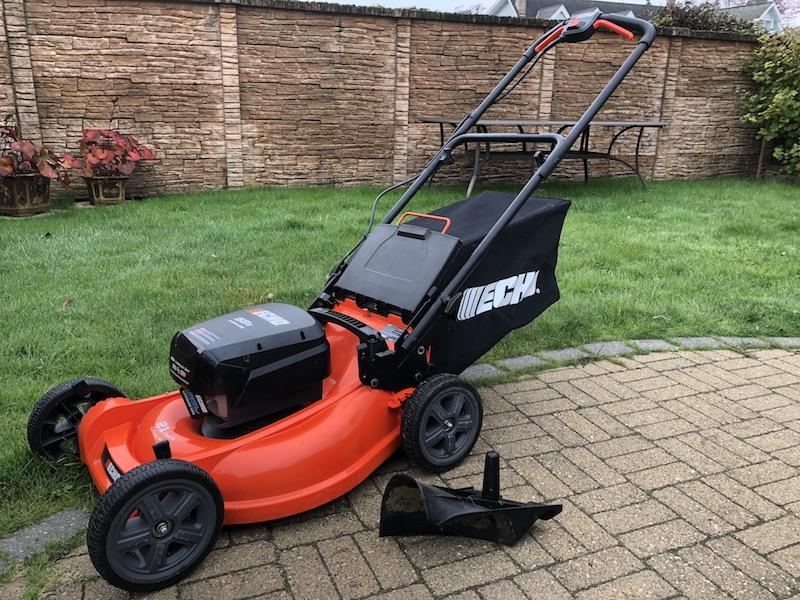 Cordless Battery Push Lawn Mower With Batteries And
