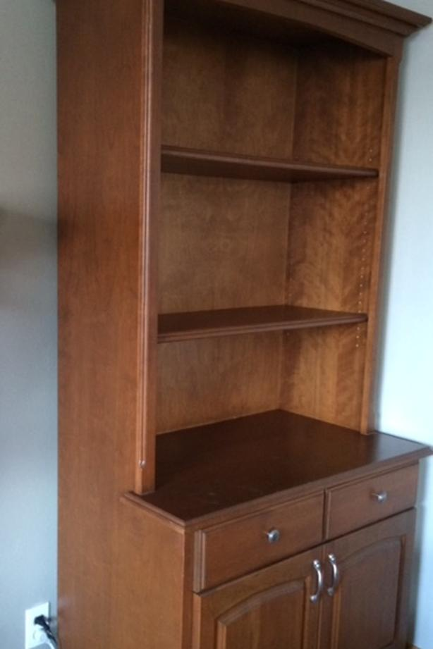 Custom-Made Solid/ Veneer Cherry Bookcase