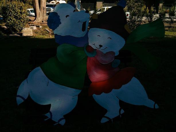4c580e2772c BEARS SKATING CHRISTMAS DECORATION YARD ART