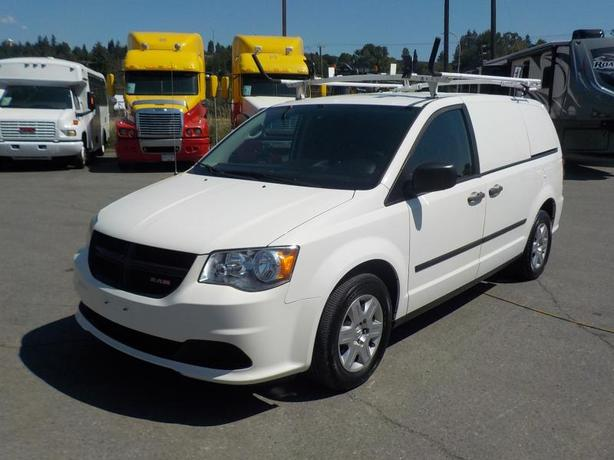 2012 Dodge Caravan Cargo Van with Shelving & Ladder Rack