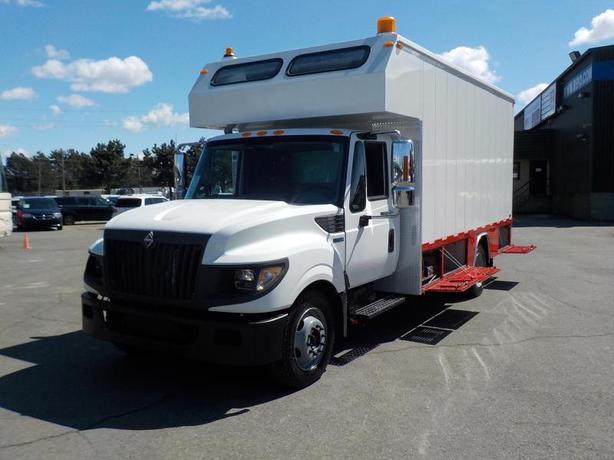 2012 International TerraStar 18 Foot Cube Van & Workshop Service Truck Dually Tu
