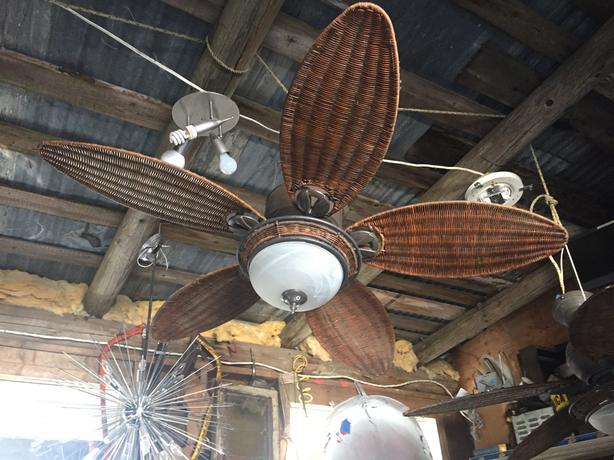 Wicker Ceiling Fans with lights