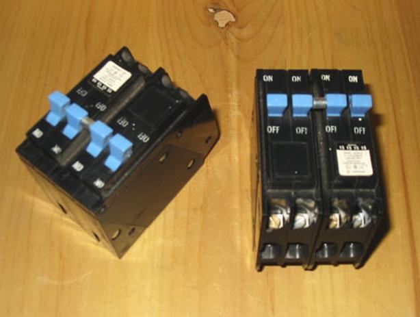 WESTINGHOUSE DNPL 151515 Quad Space Saver Circuit Breakers ~ Rare!