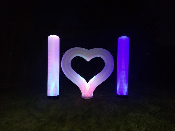 RENT ONE TODAY: 6 Foot LED Heart for your wedding, engagement, etc...