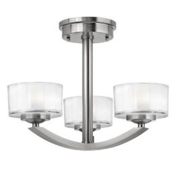 Three Light Ceiling Fixture - New