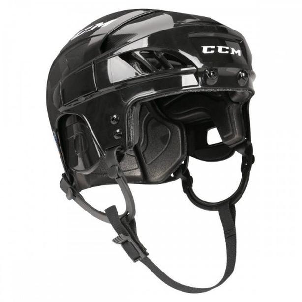 CCM skate, hockey helmet